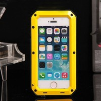 Shock/Drop/Waterproof cell phone accessory for iphone 5 phone protective case Metal Alloy Sports bags for iphone 5S