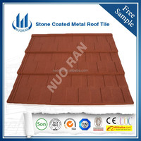 Antique color sand metal roof tiles/ Stone coated Chip Metal Roof Tile