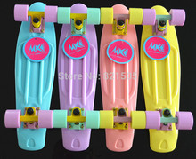 """Top Quality Pastel Penny Skate Board 22"""" New Branded Longboard Penny Style Skateboard Complete With Pastel Wheels"""