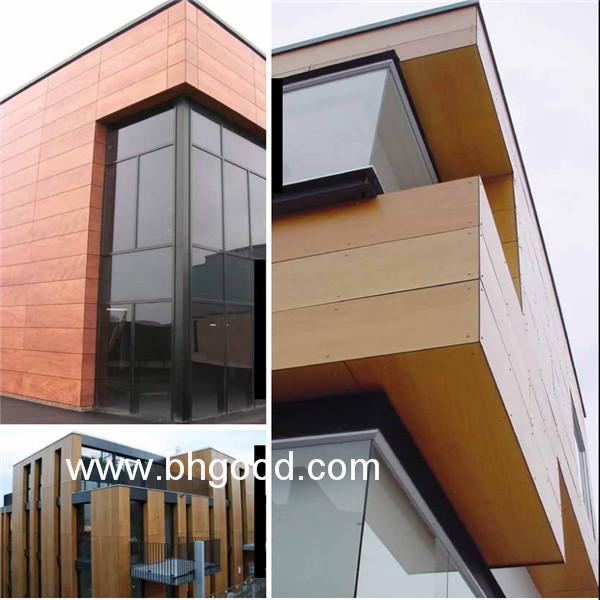 Wood Fundermax Hpl Exterior Wall Cladding Wall Panel