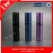 Empty aluminum travel perfumes bottles