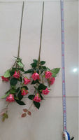 single EVA real touch handmade Chinese rose artificial flowers