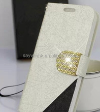 Oracle bone script style PU leather wallet phone case for Samsung
