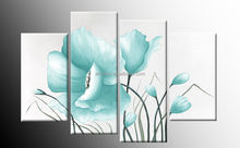 handmade white lotus flower oil painting on canvas for decoration 45978