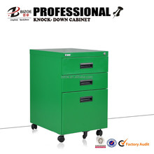 Steel furniture 3 drawer mobile pedestal cabinet/ movable file cabinet