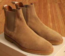 Mens fashion dress shoes Mens Chelsea suede boot men flat sneaker ankle boots
