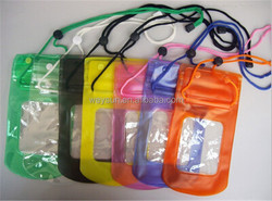 23.5*12.3CM PVC portable outdoor transparent Water/dust proof mobile/cell phone/camera bag/boxes/case/casket