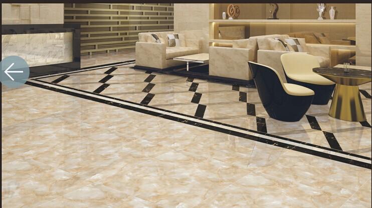 Porcelain White Travertine Floorstone Look 24x24 Ceramic Tile Floor