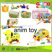 EN71 hot sale toy vehicle wooden animal toys OEM/ODM educational wooden animal toys for kids