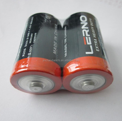High energy cheap Carbon Zinc D size R20P battery 1.5v R20 size D dry cell battery