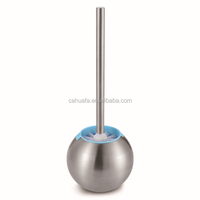 European Style Stainless Steel Toilet Brush with Holder