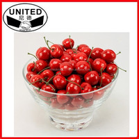 2015 hot selling lifelike fake cherry artificial fruit faux food house kitchen office party decor