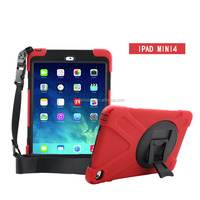 Tough Rugged Heavy Duty Rugged Dual Layer Armor Defender with Kickstand Cover Case Full Body Protective for ipad mini 4 case