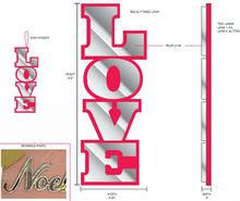 "14.5"" Christmas / Valentine LOVE Glass Hanging ornamnet, valentine heart ornament gift"