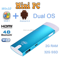 2015 mini pc window Intel 3735F Quad Core 1.8GHz with 32gb Ram for android 4.4 mini pc