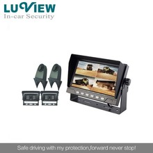 Luview 4 Camera Vehicle Viewing Kit with 7inch LCD Monitor