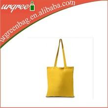 1 Yellow plain cotton fabric sling shopping bag