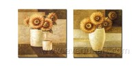 Home Decorative Canvas Flower Painting Handmade High Quality Wall Art
