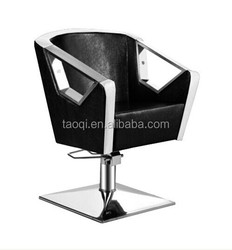 barber chair for salon -- black leather F721A-3