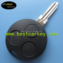 Topbest Mercedes benz electronic key complete smart 3 button transponder remote key 433mhz