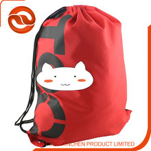 personalized nylon/ polyester/pvc drawstring bag backpack for promotion