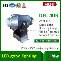 LED wonderful rotating images gobo projector 40w outdoor