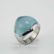 2015 new fashion 316l stainless steel women's fashion jewelry gemstone finger rings factory wholesale
