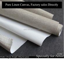 Fine grain artist primed linen canvas 380gsm