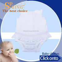 2015 fashion certified organic cotton fabric organic baby clothes daily wear girls frock BB004