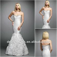 2012 New Arrival Mermaid White Sweetheart Open Back Sweep Train Long Prom Dress With Sequins By Designers 1004
