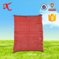 red color cheap onion mesh bags / raschel mesh bags for sale