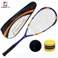 Fangcan 100% Graphite Squash Racket one piece with string within full cover