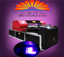 NEW ARRIVAL UV printer m CMYK+W glass/ceramic/metal/PVC/Vinyl LED UV inkjet printer/digital UV flatbed printer(DX5 Printhead)