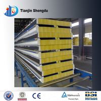 ISO aluminum composite panel hs code glass wool interior wall sandwich panel