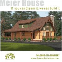 prefab wooden house log villa