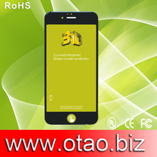 quick shipment 3d full cover screen protector for phone 6, 3d tempered glass screen protector