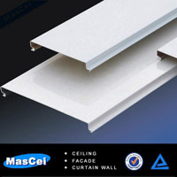 Metal ceiling cladding and outdoor metal ceiling / lightweight roofing materials