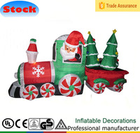 7 FT Inflatable Christmas Santa Claus Driving Train