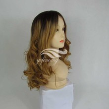 Factory Price Blonde Natural Wavy Human Hair Silicone Wig With Baby Hair