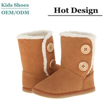 Hot sale oem fancy combat boots brown/girls sheepskin boots