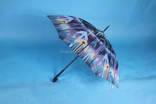 New product straight auto 22.5inch double 8ribs umbrella with printing