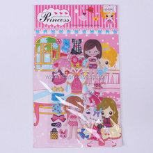 pretty princess dress up DIY puffy sticker