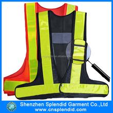 Black 8pcs LED safety vest,reflective vest,traffic vest with PVC tape