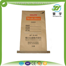Hot Sale 25KG Brown Kraft Paper and plastic compound chemicals bag