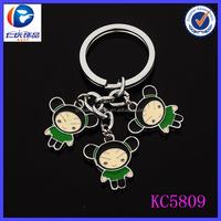 fashion custom cheap metal shape keychain with people names