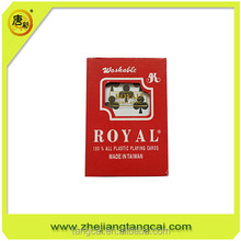 royal brand 100% all plastic playing cards manufacturer