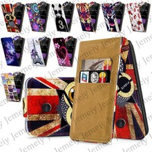 Fashion Patterns Printed Magnetic Top Flip PU Leather Case Card Holder Wallet Phone Cover Skin For Nokia X