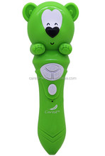 Light green bear reading pen for English