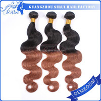 Body wave synthetic hair kanekalon 3 piece hair weave, 3 pieces weave hair, 3 tone hair weave