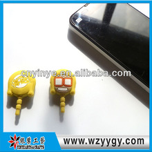 Promotion Eco-friendly Happy Soft PVC Plug With Dust Cap